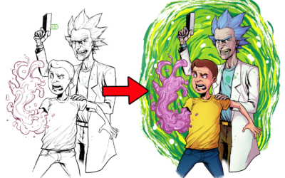 COLORING TUTORIAL WITH RICK AND MORTY!